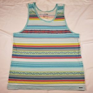On the Byas multicolor striped mens tank top XL